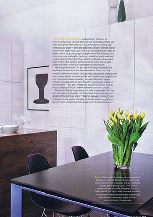 Melanie's Kitchen featured in Home Beautiful Issue 07 March 2013